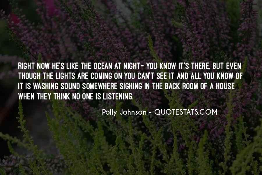 Polly Johnson Quotes #1166515