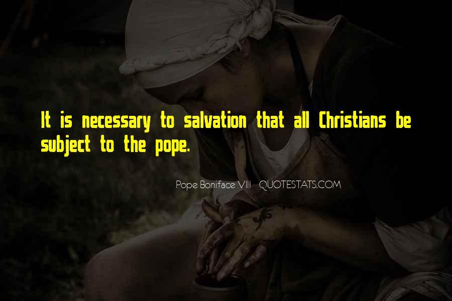 Pope Boniface VIII Quotes #296378