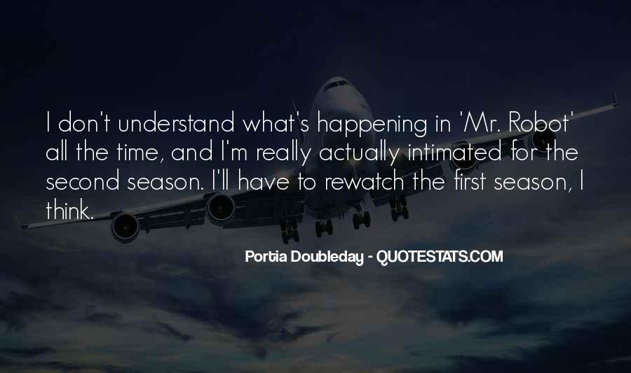Portia Doubleday Quotes #1517724