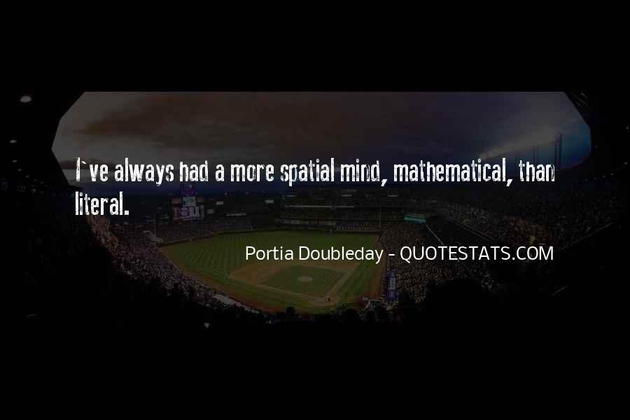 Portia Doubleday Quotes #1718458