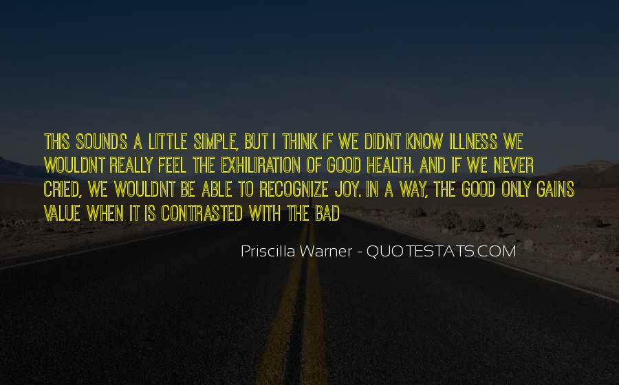 Priscilla Warner Quotes #745757