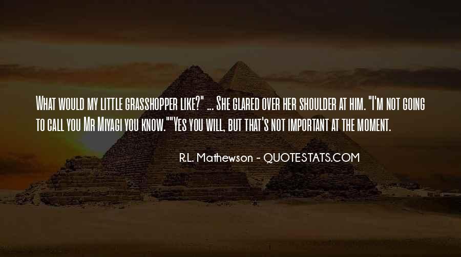 R.L. Mathewson Quotes #1235975