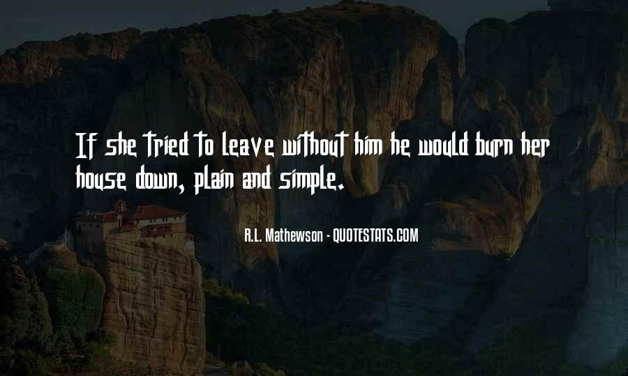 R.L. Mathewson Quotes #1309931