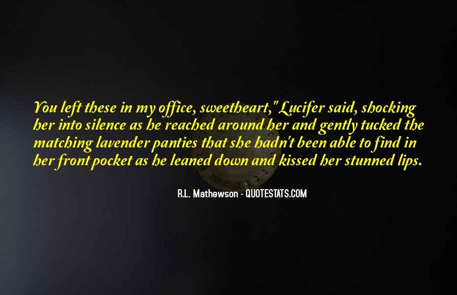 R.L. Mathewson Quotes #1382404