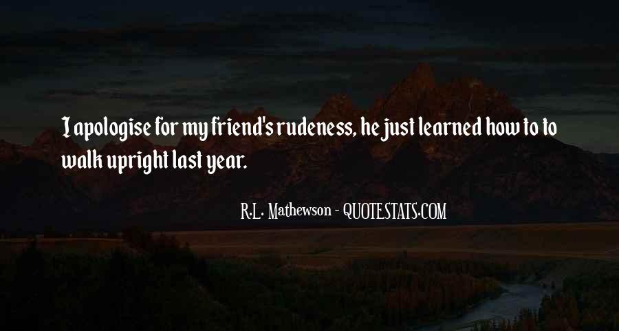 R.L. Mathewson Quotes #644517