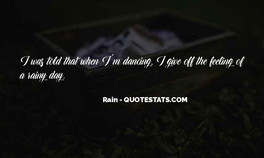 Rain Quotes #52091