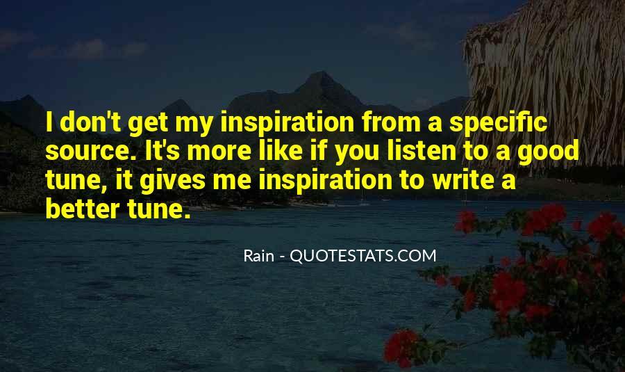 Rain Quotes #707986