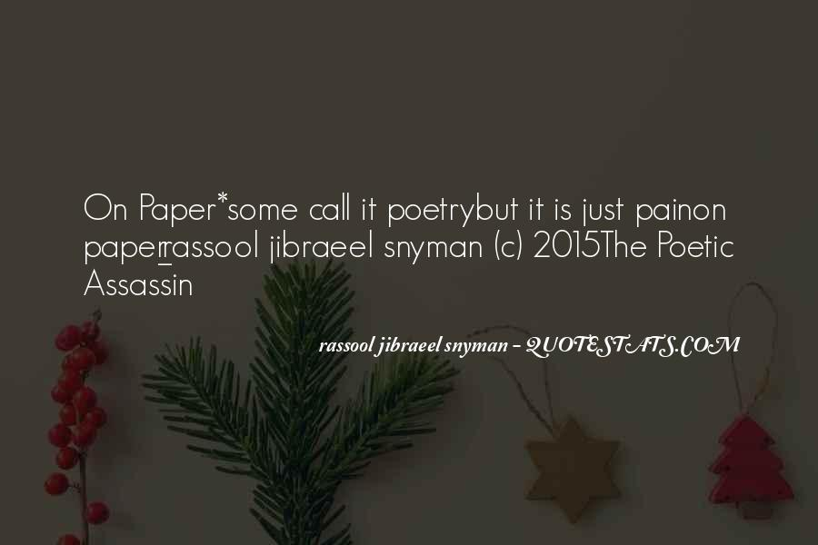 Rassool Jibraeel Snyman Quotes #916205