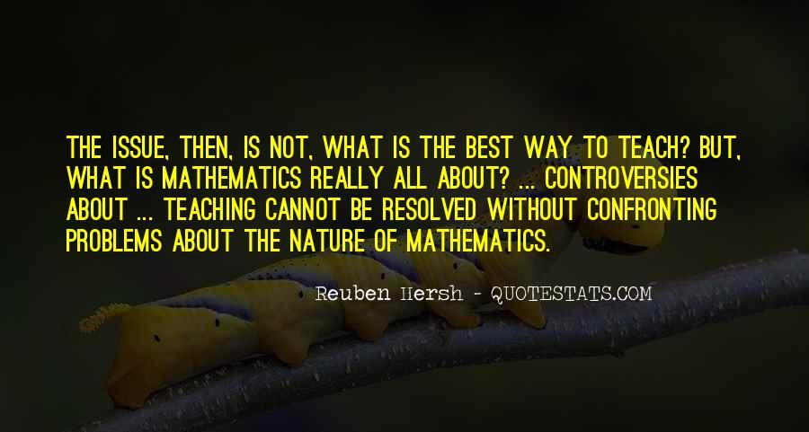 Reuben Hersh Quotes #1822182