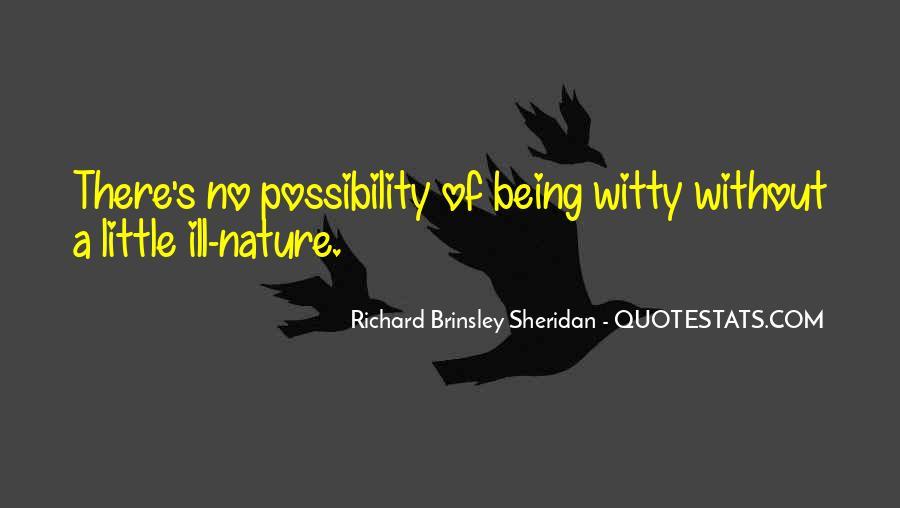 Richard Brinsley Sheridan Quotes #105586