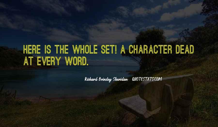 Richard Brinsley Sheridan Quotes #1131864