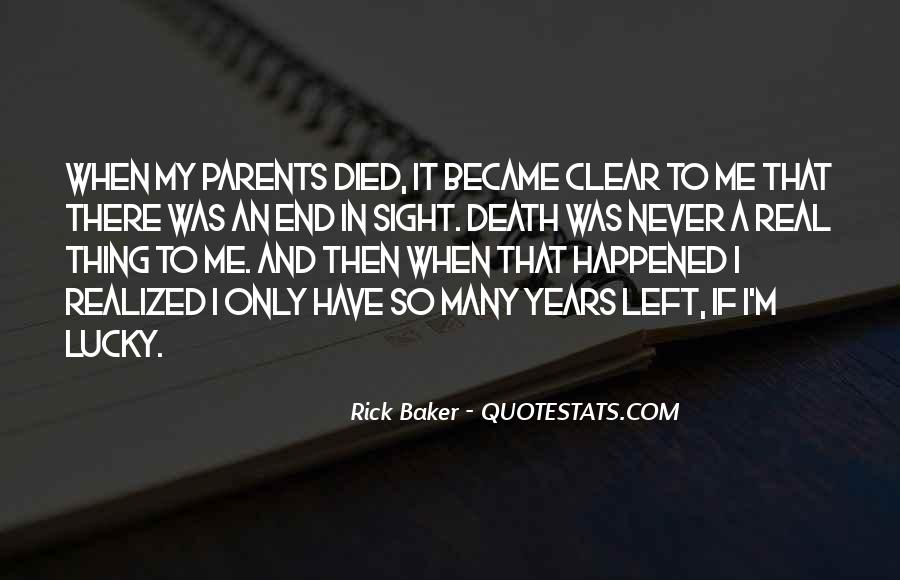Rick Baker Quotes #602213