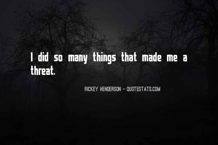 Rickey Henderson Quotes #1092820