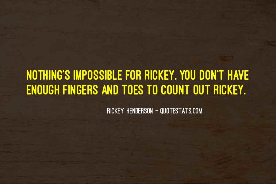 Rickey Henderson Quotes #1852881