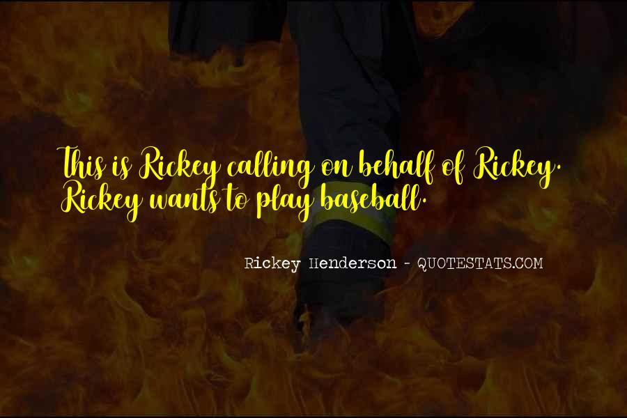 Rickey Henderson Quotes #282567