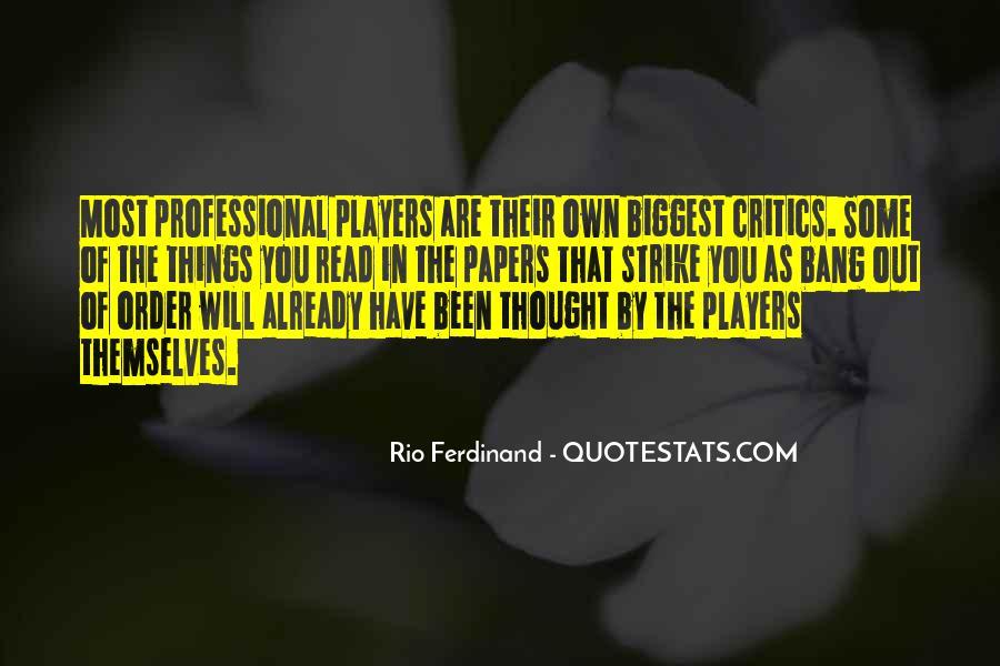 Rio Ferdinand Quotes #777552