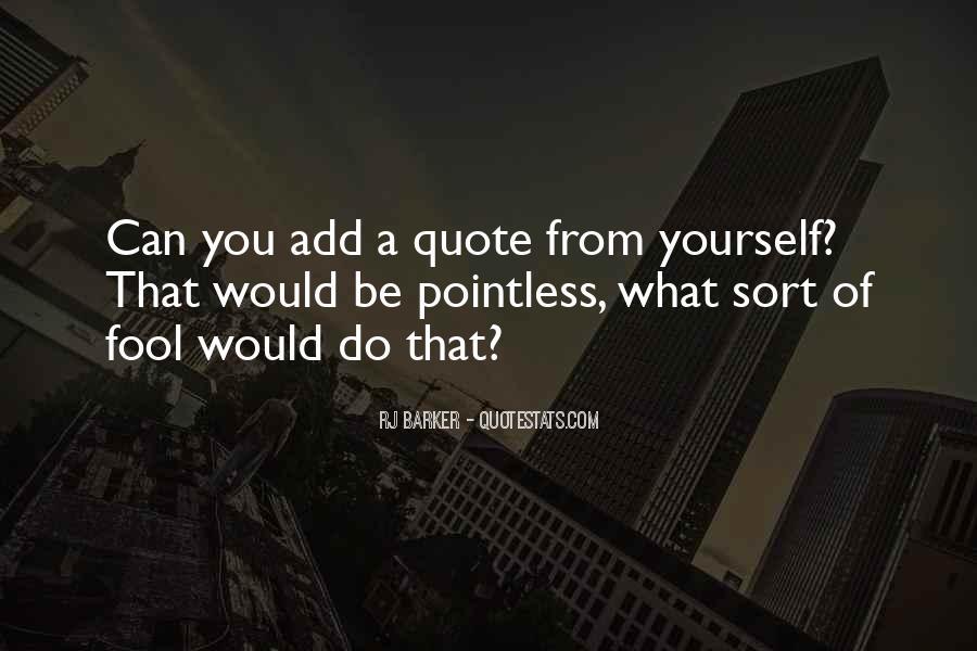 RJ Barker Quotes #414899