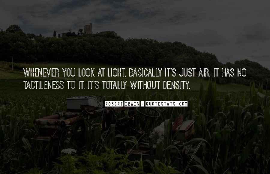 Robert Irwin Quotes #37721