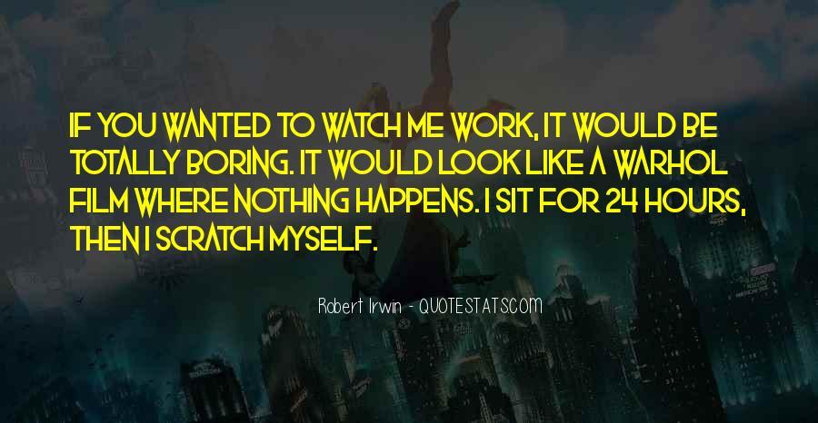 Robert Irwin Quotes #964664