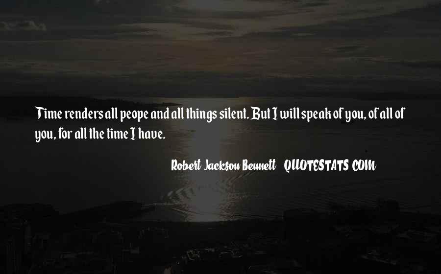 Robert Jackson Bennett Quotes #107594
