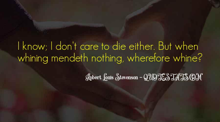 Robert Louis Stevenson Quotes #139374