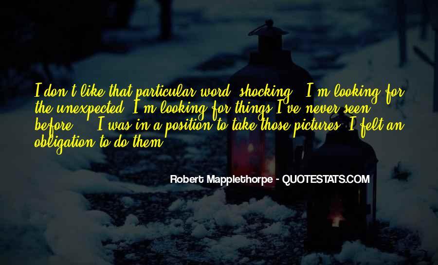 Robert Mapplethorpe Quotes #1027345