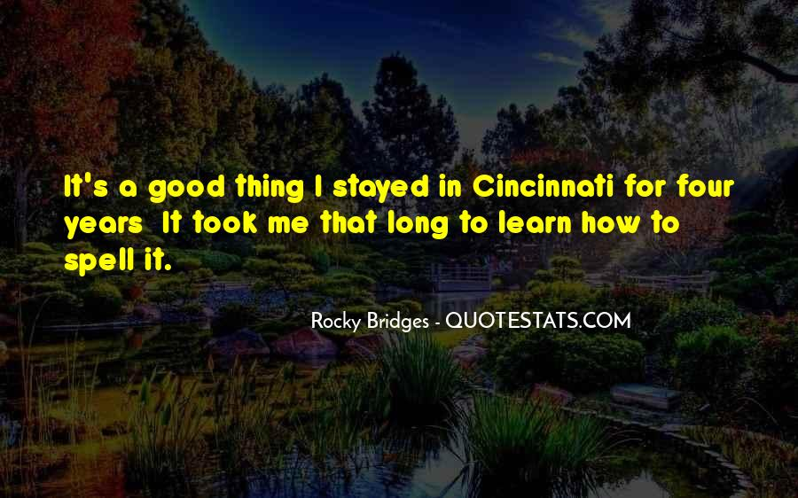 Rocky Bridges Quotes #907150