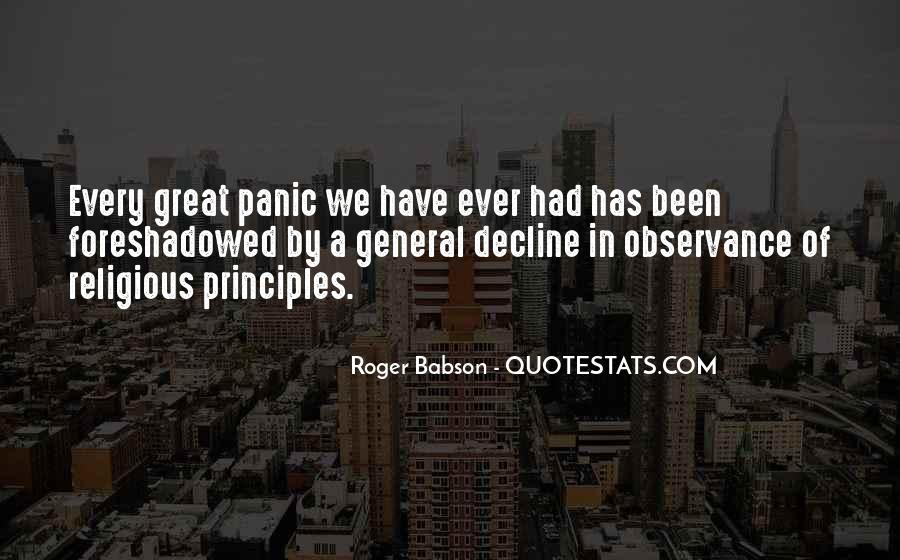 Roger Babson Quotes #665085