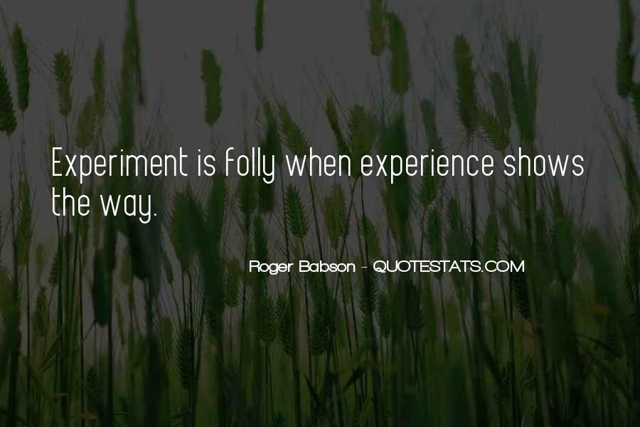 Roger Babson Quotes #814677