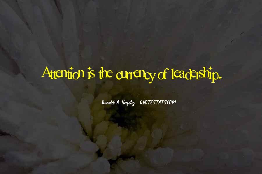 Ronald A. Heifetz Quotes #650778