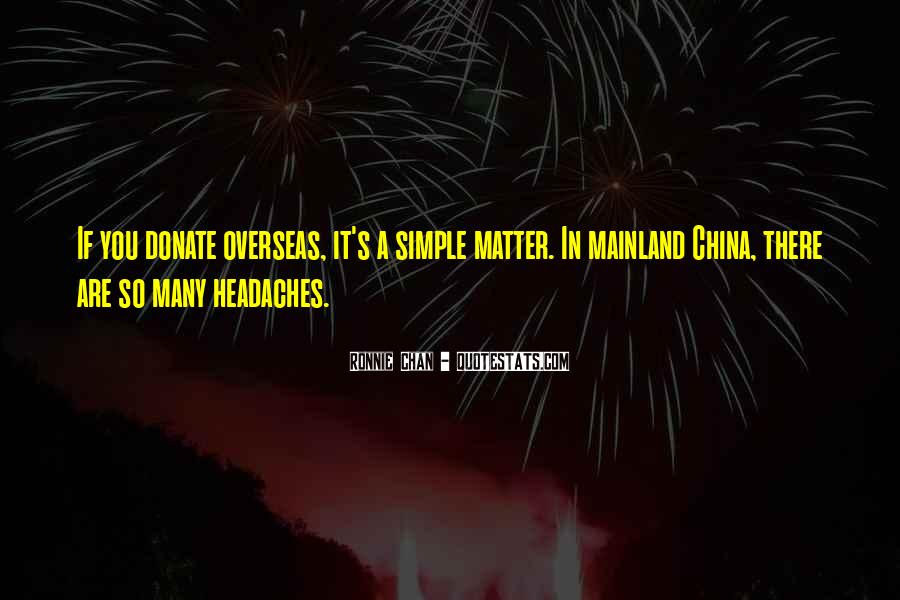 Ronnie Chan Quotes #1364508
