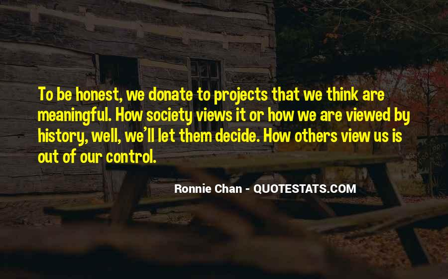 Ronnie Chan Quotes #197482
