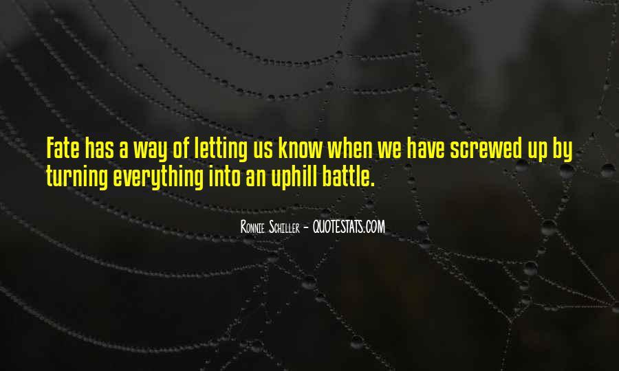 Ronnie Schiller Quotes #1209987