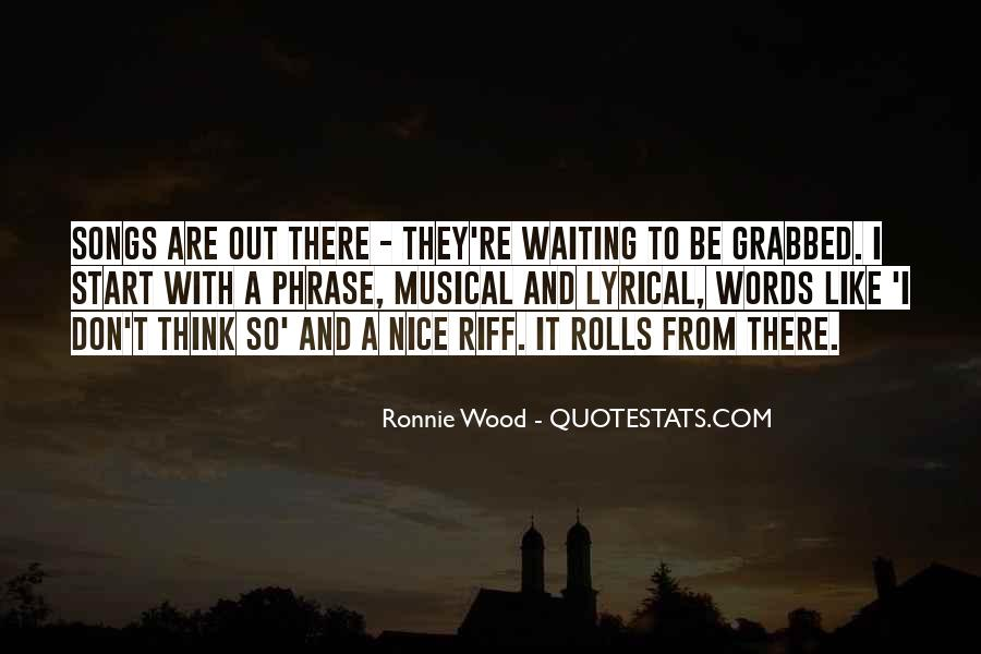 Ronnie Wood Quotes #762300