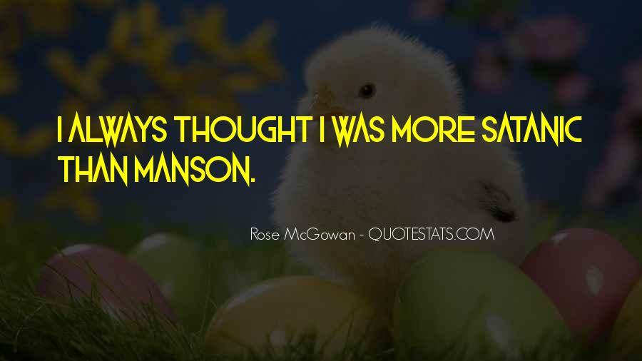 Rose McGowan Quotes #1126648