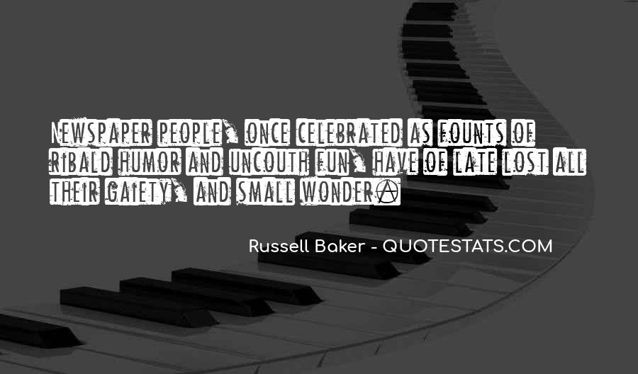 Russell Baker Quotes #1616857