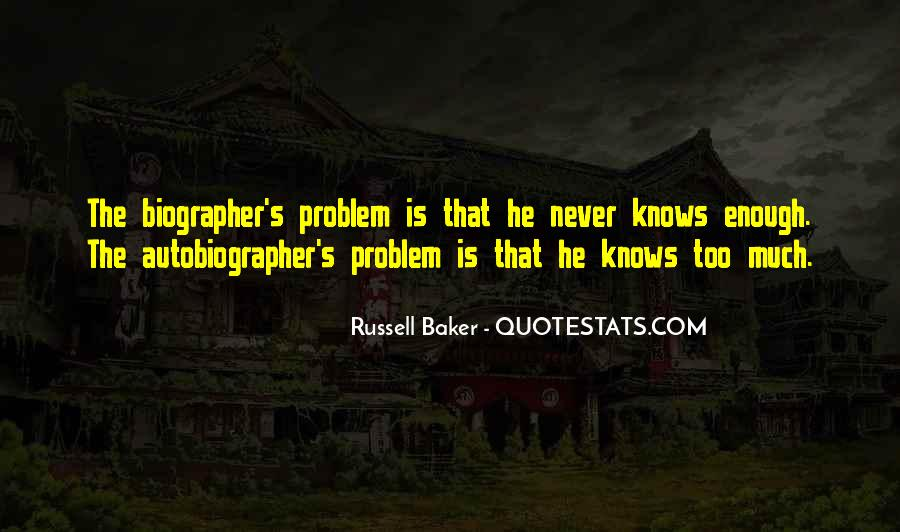 Russell Baker Quotes #385588