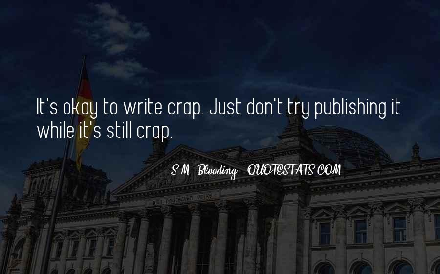 S.M. Blooding Quotes #1012000