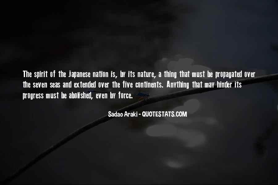 Sadao Araki Quotes #1778684