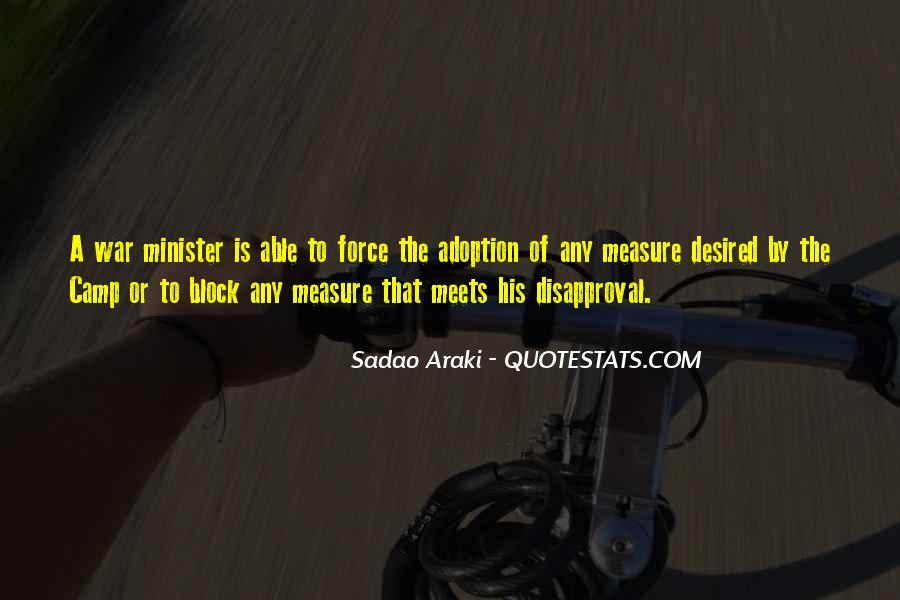 Sadao Araki Quotes #625371