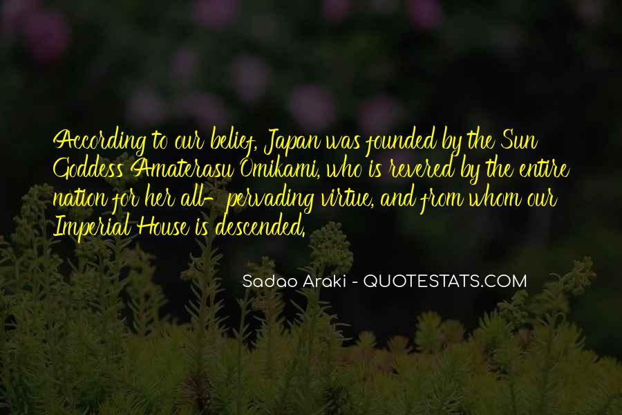 Sadao Araki Quotes #733959