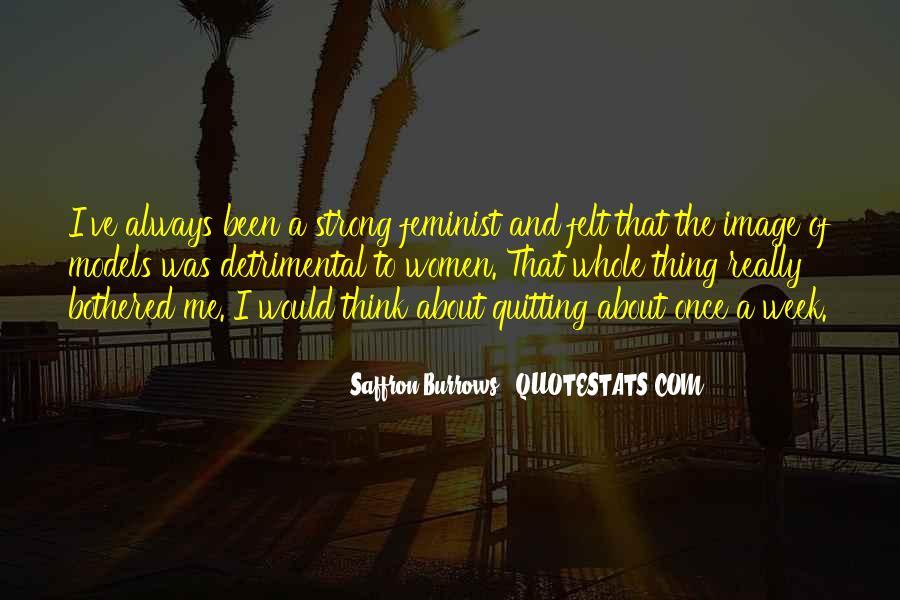 Saffron Burrows Quotes #1467652