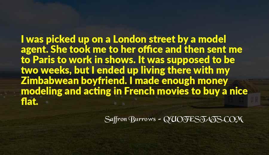 Saffron Burrows Quotes #1662002
