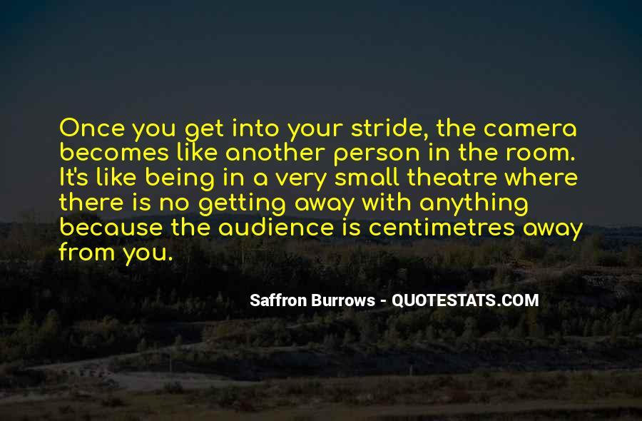 Saffron Burrows Quotes #509902