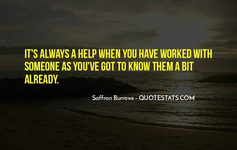 Saffron Burrows Quotes #514546