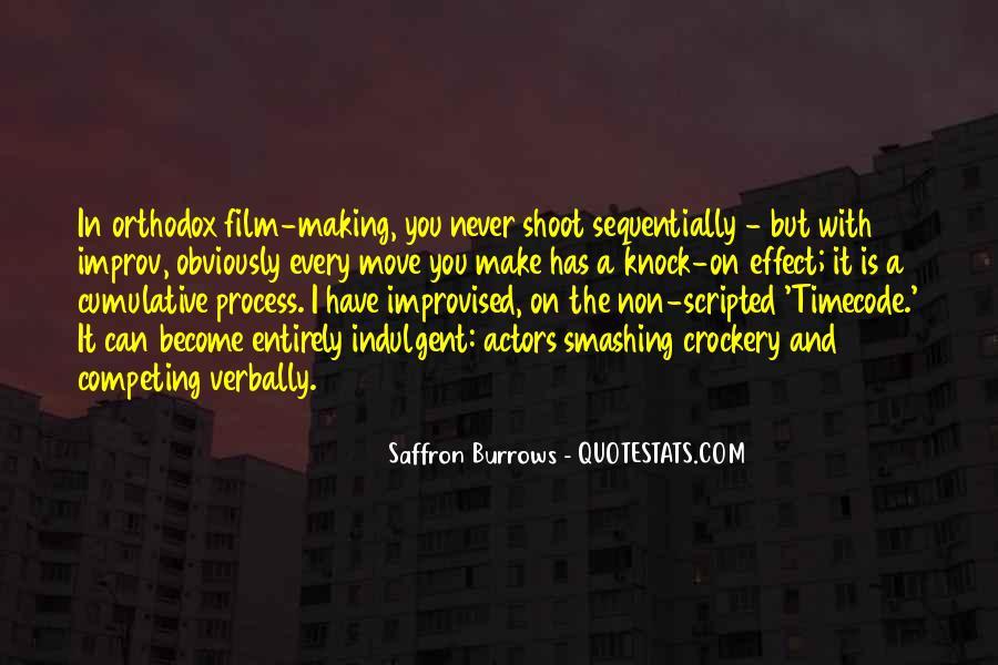 Saffron Burrows Quotes #517082