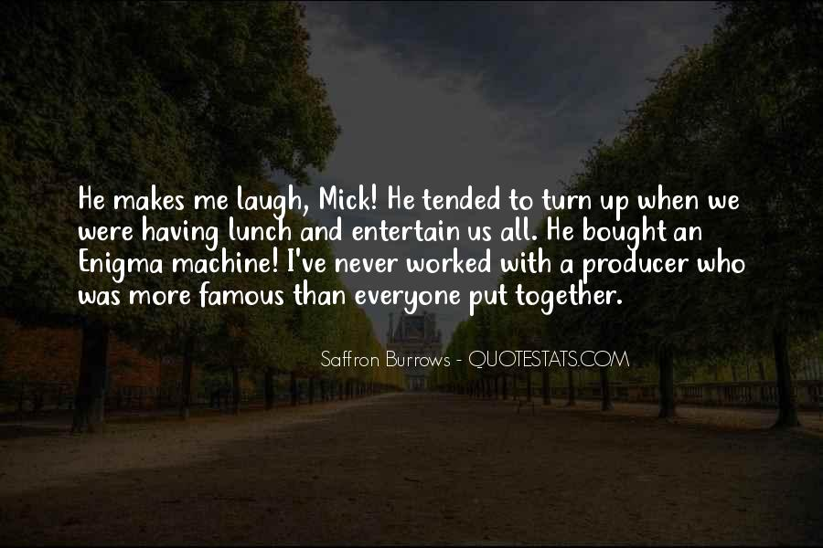 Saffron Burrows Quotes #955975