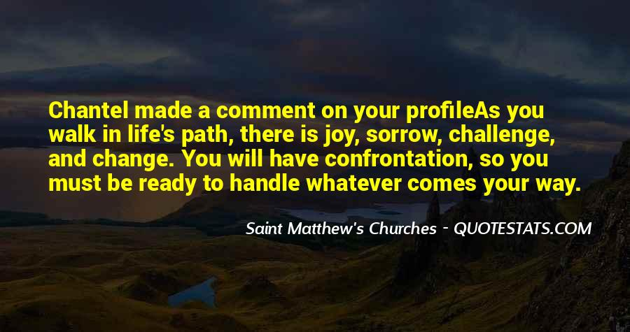 Saint Matthew's Churches Quotes #1520242