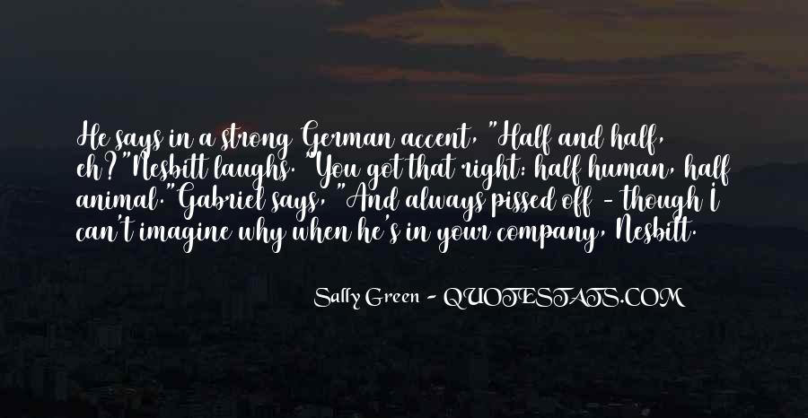 Sally Green Quotes #979809