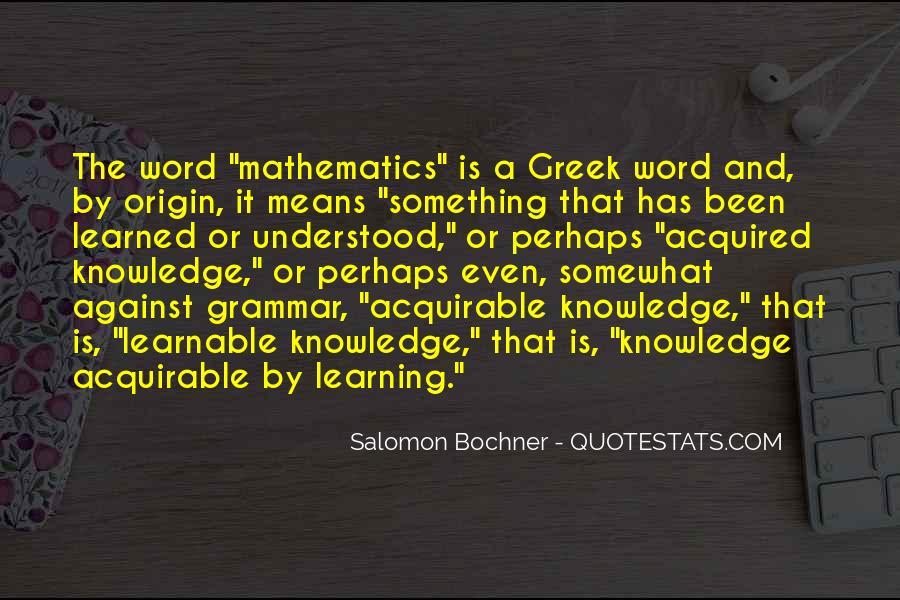 Salomon Bochner Quotes #673597